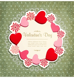 vintage valentines frame vector image