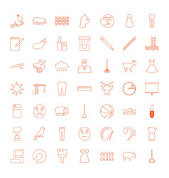 49 drawing icons vector image