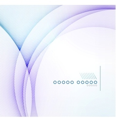 Abstract blue wave blur background vector image