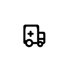 ambulance icon symbol sign vector image
