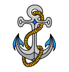 Anchor icon heavy metal object for a sea vessel vector