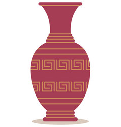 Ancient greek vase antique pottery from greece vector