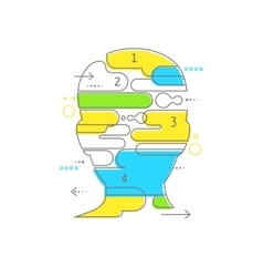 Brain Creative mind man head infographics vector image