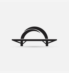 bridge icon isolated vector image