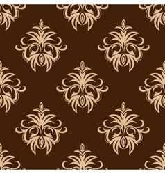 Brown and beige seamless pattern vector image