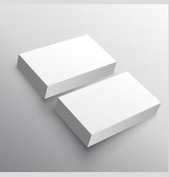 Business card presentation mockup template vector