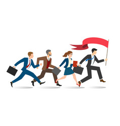 business team running vector image