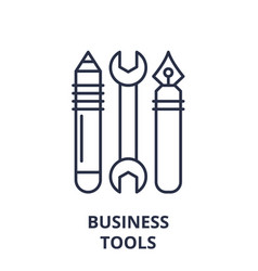 business tools line icon concept business tools vector image