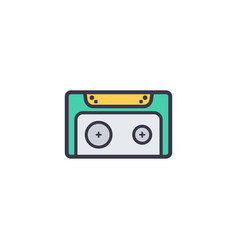 cassette flat icon sign symbol vector image