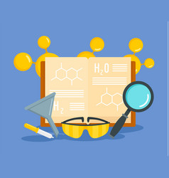 Chemical science concept background flat style vector