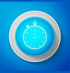 classic stopwatch icon isolated on blue background vector image