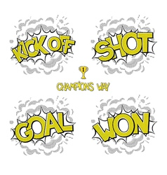 Collection sport comic bubbles vector