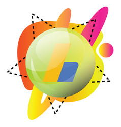 Colorful round icon for google adsense on white vector