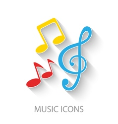 Colorful Stylish Music Icons vector image