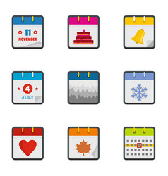 Compilation icons set flat style vector