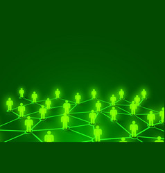 connecting people social network concept bright vector image
