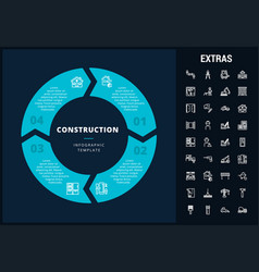 Construction infographic template and elements vector