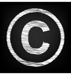 Copyright sign Scribble effect vector