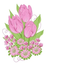 Design of tulips Flower background vector image
