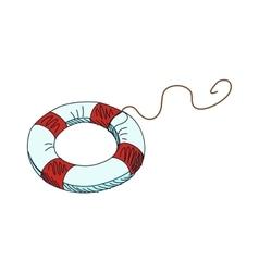 Doodle lifebuoy vector