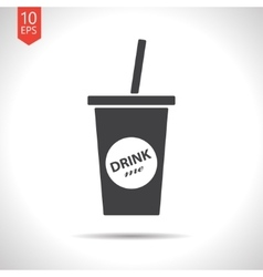 drink icon Eps10 vector image