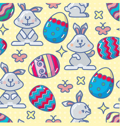 easter holiday colorful background vector image