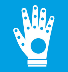 Electronic glove icon white vector