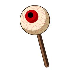 eye ball lollipop icon cartoon style vector image