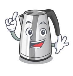 Finger mascot cartoon household kitchen electric vector