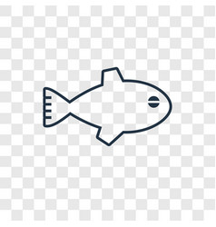 fish concept linear icon isolated on transparent vector image