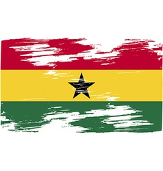 Flag of Ghana with old texture vector image