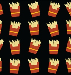 french fries fastfood theme vector image