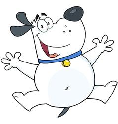 Friendly cartoon dog vector image