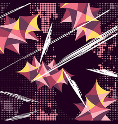Graffiti on a black background vector