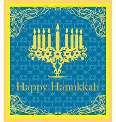Hanukkah Greeting Card vector