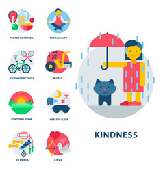 health and longevity icons modern activity vector image