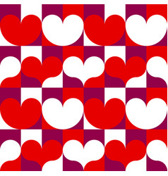hearts seamless pattern for happy valentines day vector image