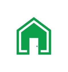 home eco logo vector image