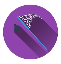 Icon of butterfly net vector image