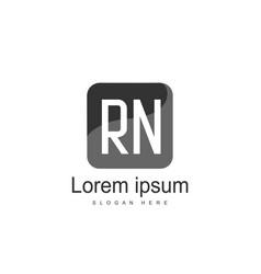 Initial rn logo template minimalist letter logo vector