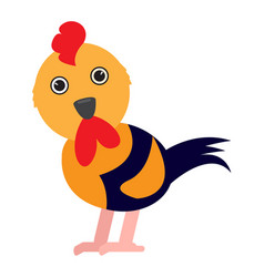 Isolated cute chicken vector