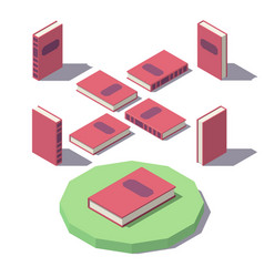 isometric classic book vector image