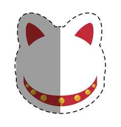 Japanese cat lucky icon vector