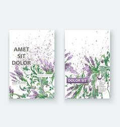 Lavender floral pattern cover design hand drawn vector