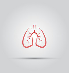 lungs isolated colored icon vector image