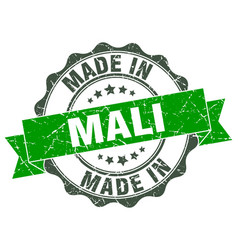 Made in mali round seal vector