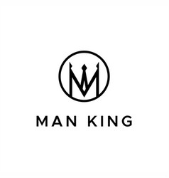 man king logo vector image
