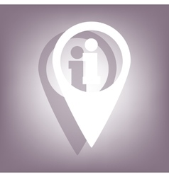 Map pointer icon with shadow vector