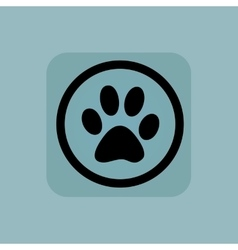 Pale blue animal sign vector