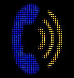 Phone ring halftone icon vector